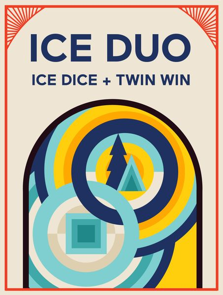 Ice Duo, Looney Labs, 2020 — front cover (image provided by the publisher)