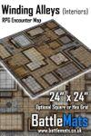 RPG Item: Winding Alleys (Interiors) RPG Encounter Map