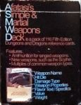 RPG Item: Afatasi's Simple & Martial Weapons Deck