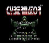 Video Game: Cybernator