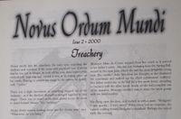 Issue: Novus Ordum Mundi (Issue 2 - 2000)