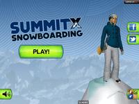 Video Game: SummitX Snowboarding