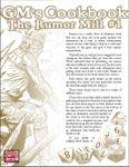RPG Item: GM's Cookbook: Rumor Mill #1
