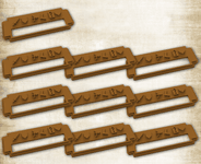 Board Game Accessory: Mythic Battles: Pantheon – Colored Stat Clips