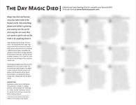 RPG Item: Backstory Cards: The Day Magic Died
