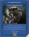 RPG Item: ONA-05: Fear in Blazing Fork