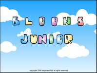 Video Game: Bloons Junior