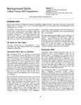 RPG Item: Background Skills: A Basic Fantasy RPG Supplement
