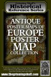 RPG Item: Antique Poster Maps of Europe Poster Map Collection