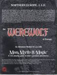 RPG Item: The Werewolf of Europe