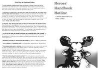 RPG Item: Heroes'  Handbook Hotline
