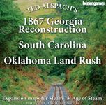 Board Game: Age of Steam Expansion: 1867 Georgia Reconstruction, South Carolina & Oklahoma Land Rush