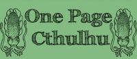 Series: One Page Cthulhu