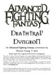 RPG Item: Advanced Fighting Fantasy: Deathtrap Dungeon