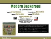 RPG Item: Modern Backdrops