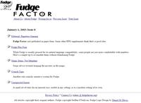 Issue: Fudge Factor (Issue 8 - Jan 2003)