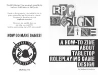 RPG Item: RPG Design Zine: A How-to Zine About Tabletop Roleplaying Game Design