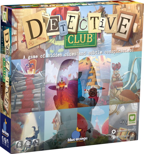 Detective Club, Blue Orange Games, 2019 (image provided by the publisher)