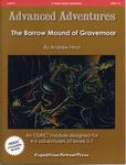 RPG Item: AA#12: The Barrow Mound of Gravemoor