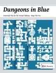 RPG Item: Dungeons in Blue: Geomorph Tiles for the Virtual Tabletop: Mega Tile 05