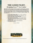 RPG Item: The Good Fight: Designing Better Combat in 7th Sea