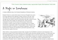 RPG Item: Tales of Entropy: A Night in the Limehouse