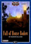 RPG Item: B11: Fall of House Rodow (Pathfinder)