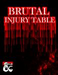 RPG Item: Brutal Injury Table