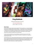 RPG Item: Fray Rulebook (Preview 1 Release)