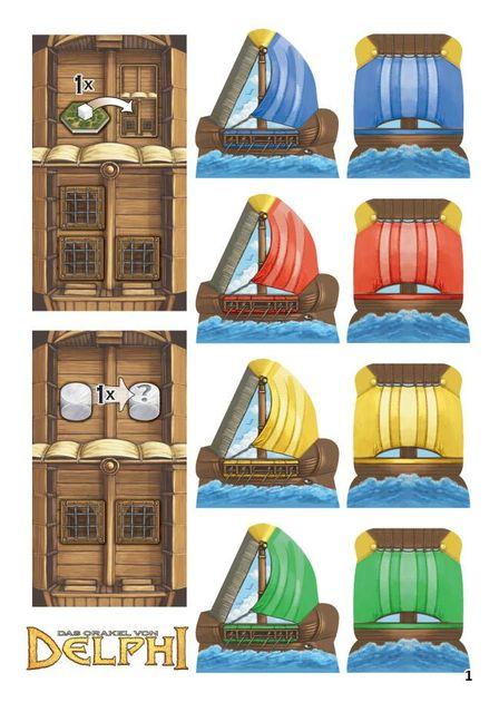 Seafarers Brettspiel Advent Calendar 2016 Oracle of Delphi board game mini ex
