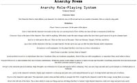 RPG Item: Anarchy Role-Playing System Technical Manual
