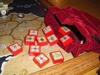 Custom Blocks (Artwork by Kitrok) and Velvet Bags made by my wife Jennifer.