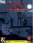 RPG Item: Dungeon Master's Assistant Volume 1: 20+ Random Campaign Charts