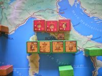 Big battle at Rome. Pompey's units attack Antonius and Legio 8th and 12th. Unfortunately Antonius force were able to get only one hit i round 1. Pompey get eight so there was no round 2.