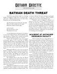 RPG Item: Gotham Gazette