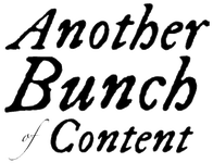 Periodical: Another Bunch of Content