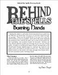 RPG Item: Behind the Spells: Burning Hands