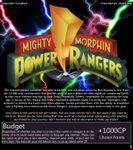 RPG Item: Mighty Morphin Power Rangers