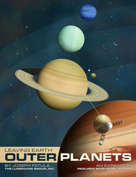 Outer Planets Expansion Lumenaris Boardgame Leaving Earth