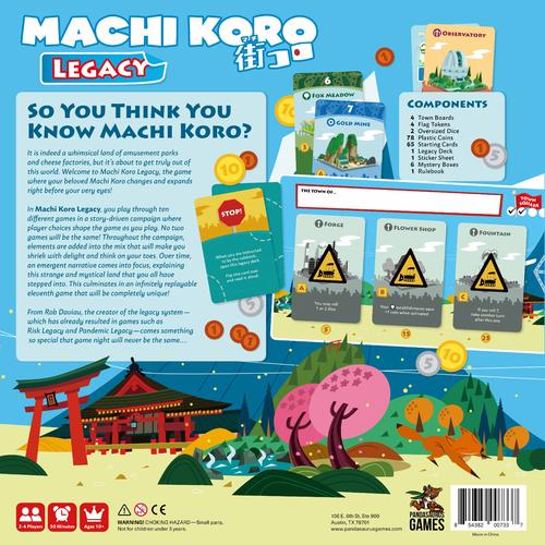 Board Game: Machi Koro: Legacy