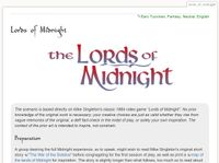 RPG Item: Tales of Entropy: The Lords of Midnight