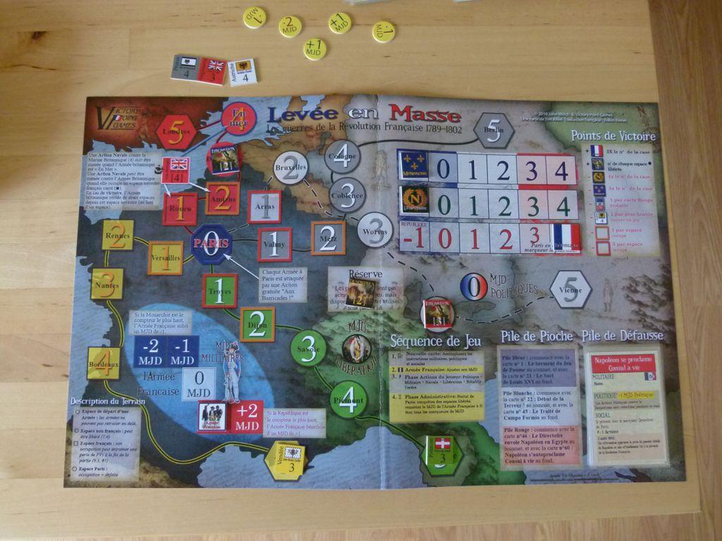 Board Game: Levée en Masse: The Wars of the French Revolution