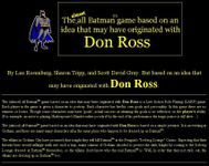 RPG Item: The (almost) all Batman™ game based on an idea that may have originated with Don Ross