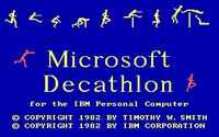 Video Game: Olympic Decathlon