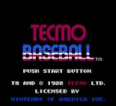 Video Game: Tecmo Baseball