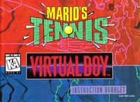 Video Game: Mario's Tennis
