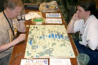 Game in Progress in War Room at 2005 Origins