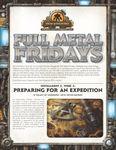 RPG Item: Full Metal Fridays Installment 3, Week 2: Preparing for an Expedition