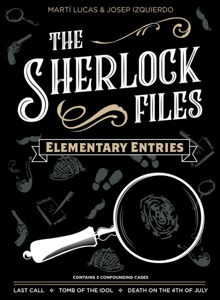 The Sherlock Files: Elementary Entries, Indie Boards & Cards, 2019 — front cover (image provided by the publisher)