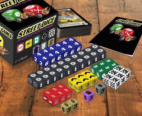 Board Game: Street Dice, Racing For Pinks